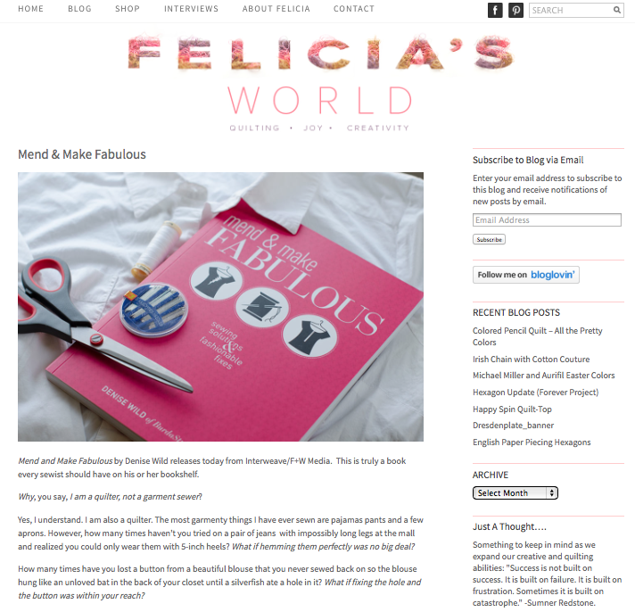 Felcia'sWorld MendAndMakeFabulous