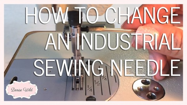 Change an industrial sewing machine needle