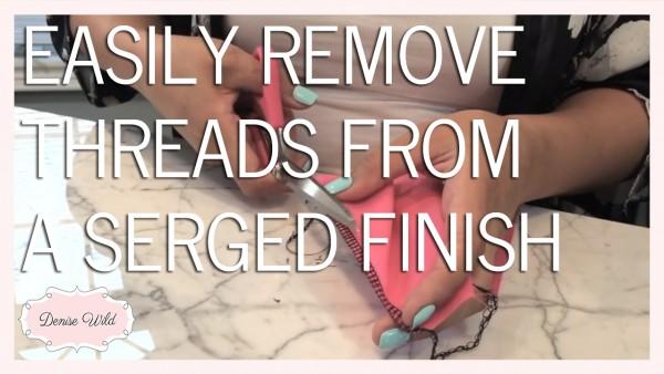 remove serger stitches