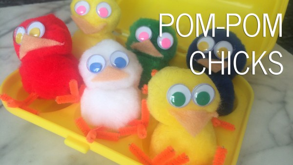How to make Pom Pom Chicks (Easter DIY)