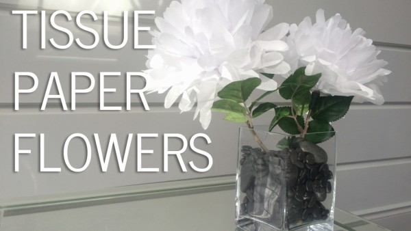 tissue paper flowers diy craft