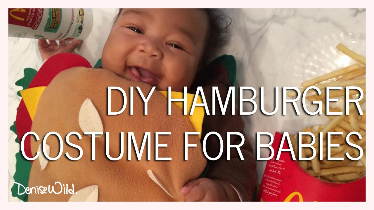 diy halloween hamburger costume for babies - denise wild
