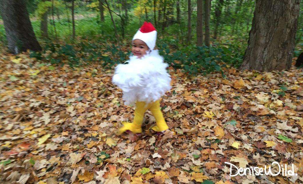 Halloween costume idea chicken costume
