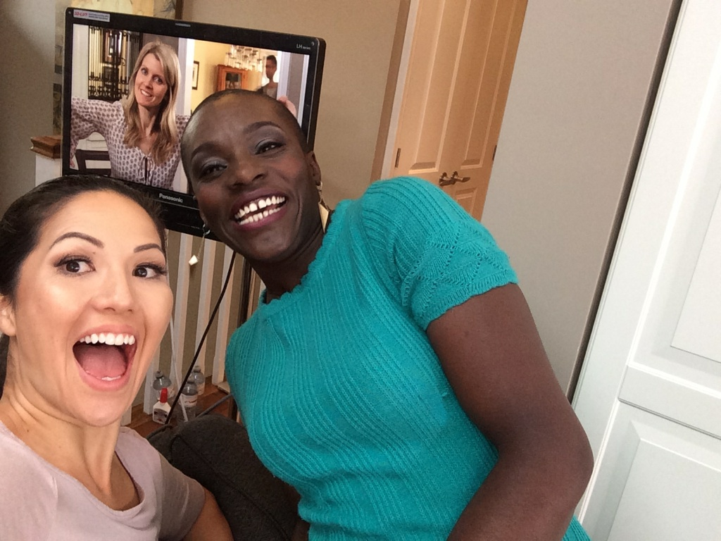 Getting goofy with Adjoa and Alison