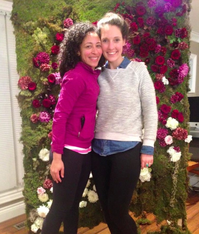 This is our producer extraordinaire, Jacqui Skeete (left), and our incredible set designer, Eszter Czibok