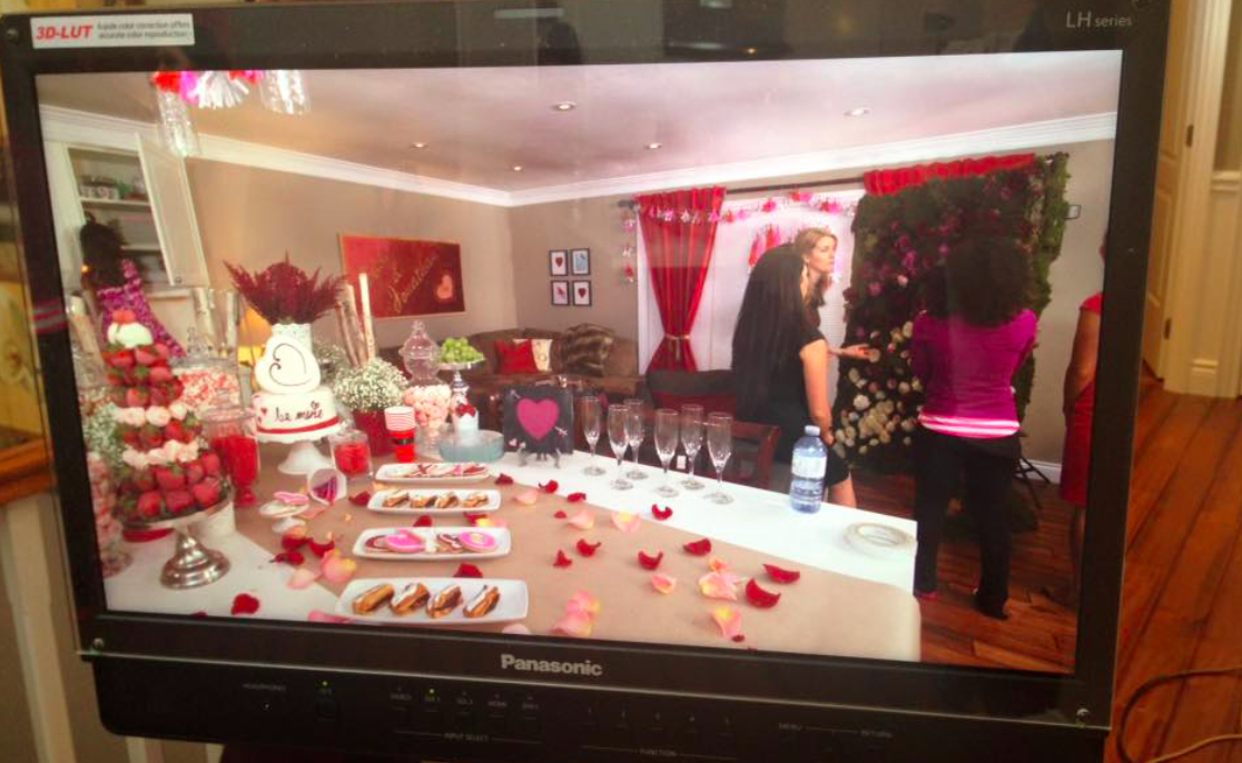 The room was a stunning display of Valentine's goodness