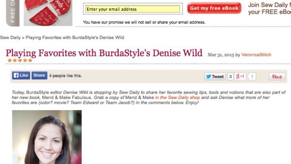 Sew Daily Denise Wild