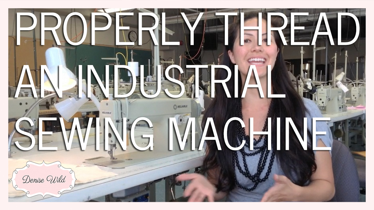Threading An Industrial Sewing Machine Video Denise Wild Diagram