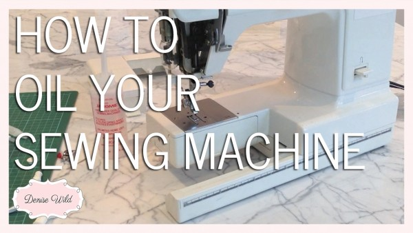 Oil your sewing machine