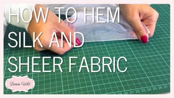 hem sheer silk fabric
