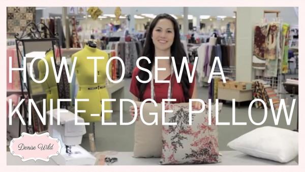 sew a knife edge pillow