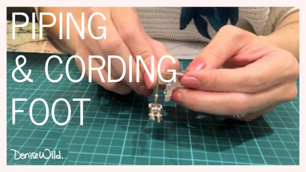 Piping cording presser foot